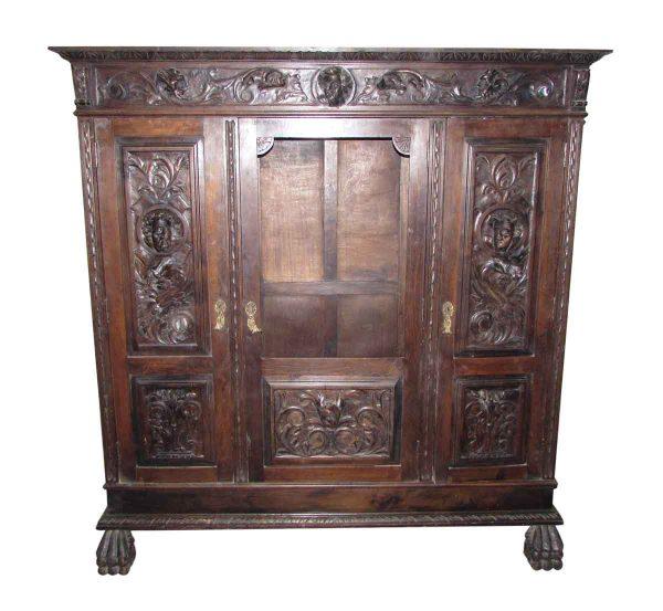 Figural Carved Cabinet