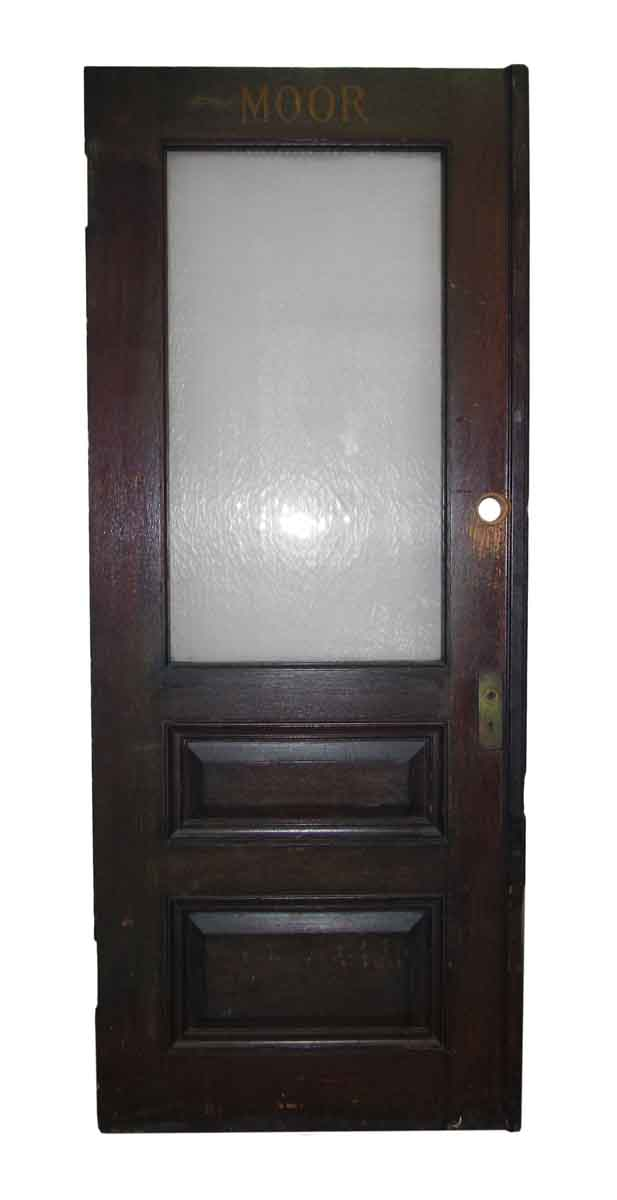 Half glass office door olde good things for Half glass exterior door