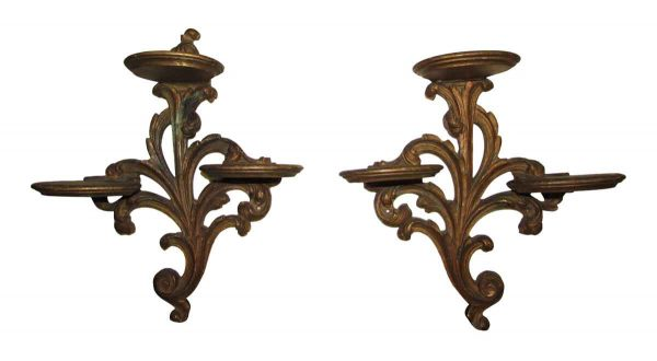 Ornate Wooden Display Shelf
