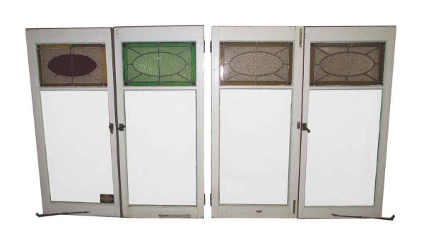 Vintage Leaded Glass Casement Windows