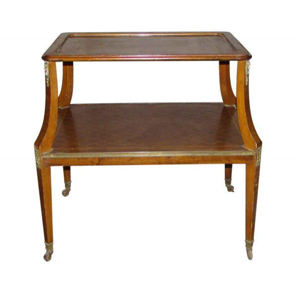 Antique Diamond Design End Table