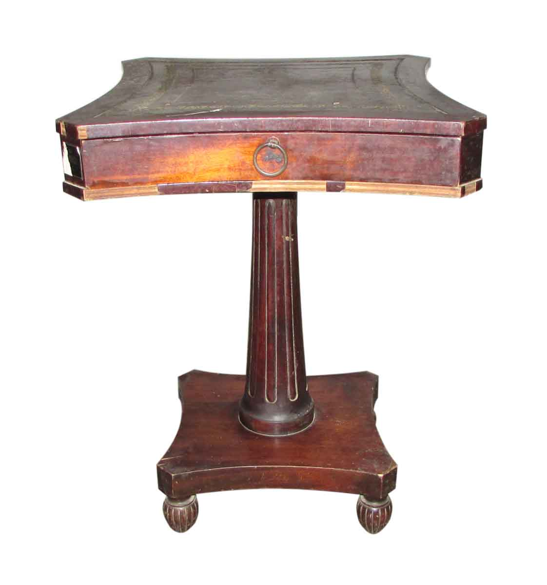 Wheeled side table olde good things - Antique side tables for living room ...