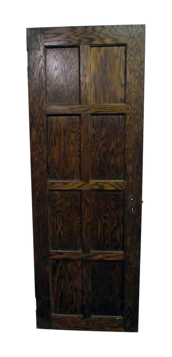 Eight Panel Textured Wood Door