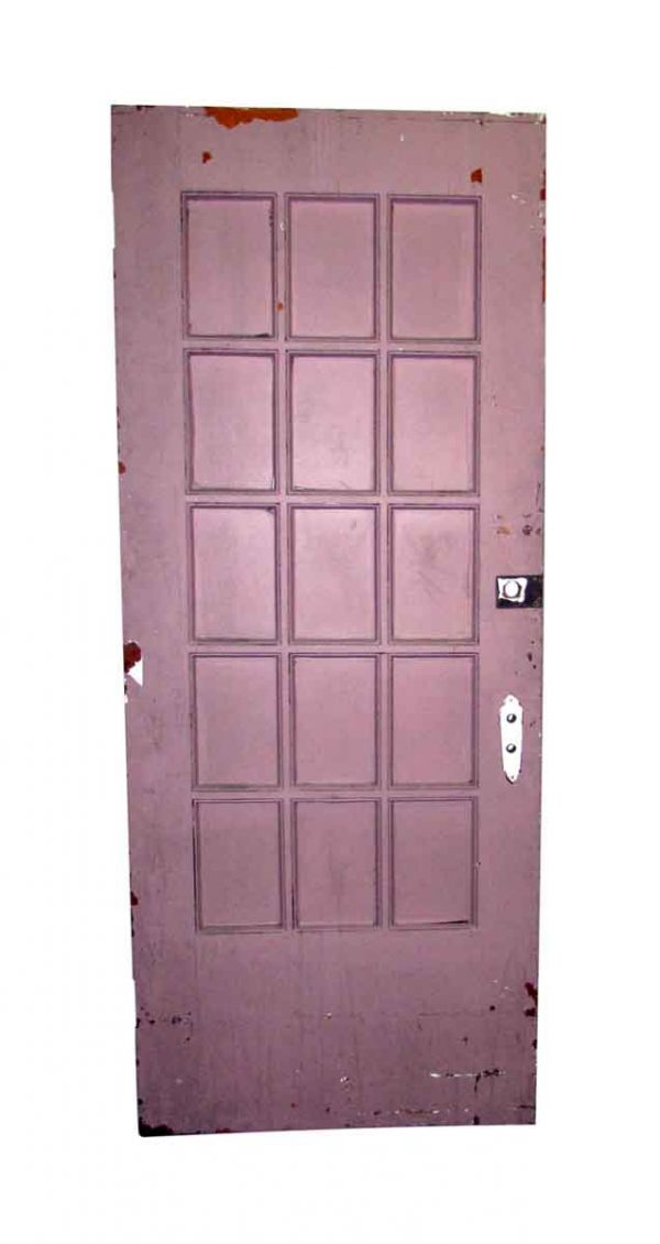 15 Painted Paneled French Door