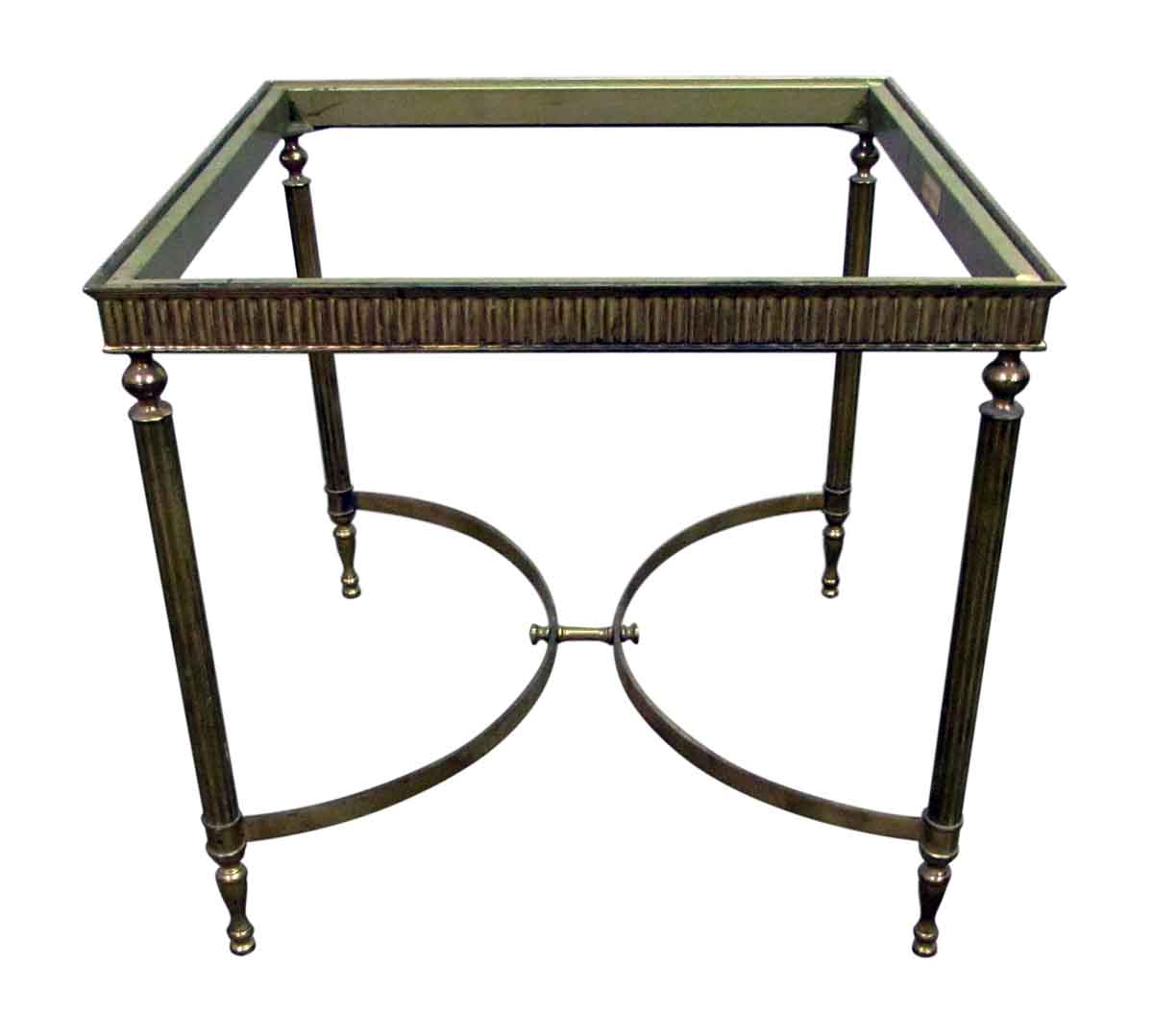 Brass italian side table base olde good things for Side table base