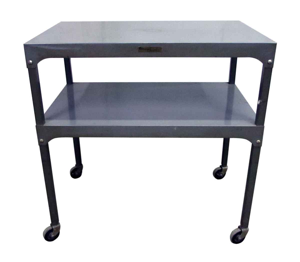 Metal Two Tier Table On Wheels Olde Good Things