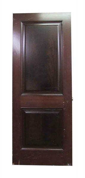 Two Panel Dark Stained Door