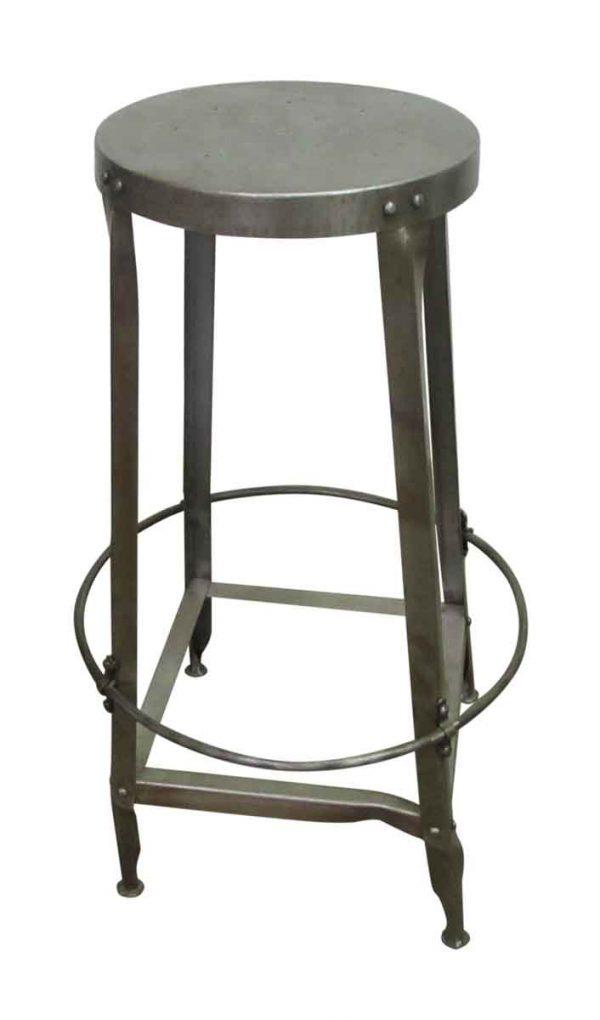 Round Seated Steel Stool