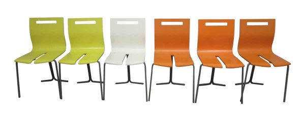 Mid Century Colorful Stacking Chairs