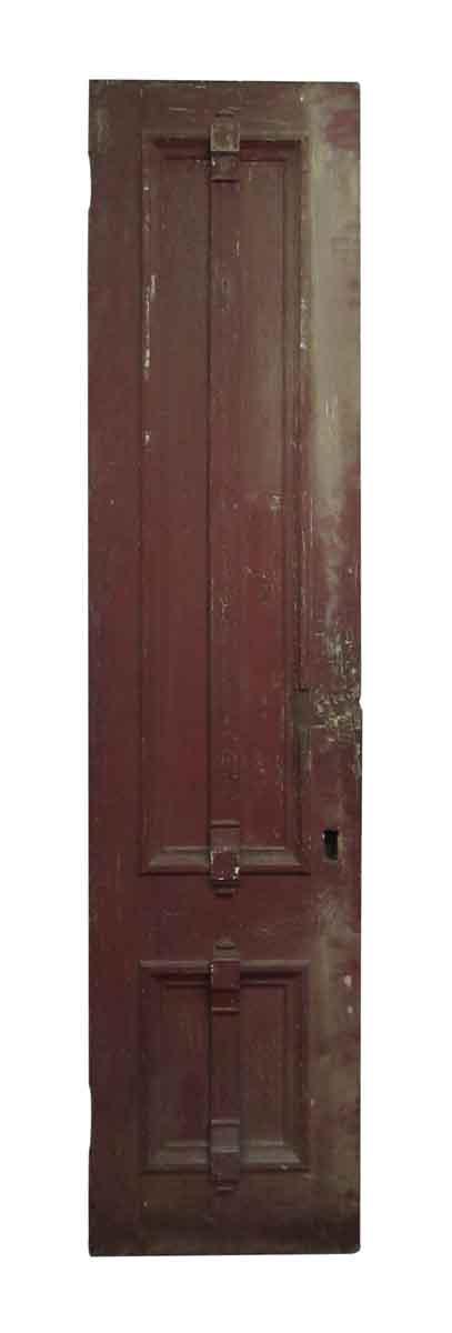 Vertical Panel Ornate Wooden Door