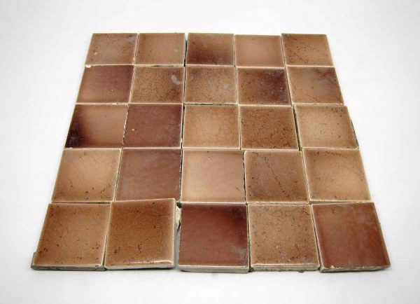Light Pink & Tan Square Tile Set