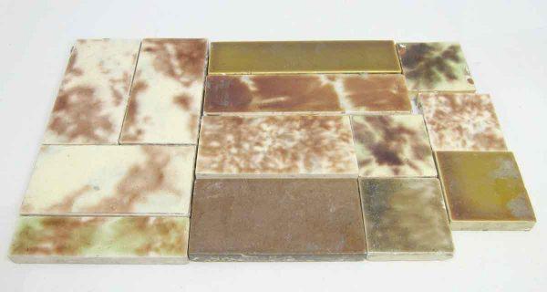 Set of 13 Brown Assorted Tiles