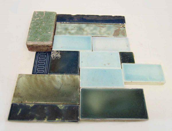 Set of 14 Blue Assorted Tiles