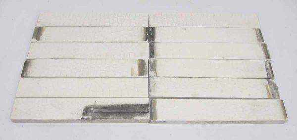 White 6 X 1 Tiles