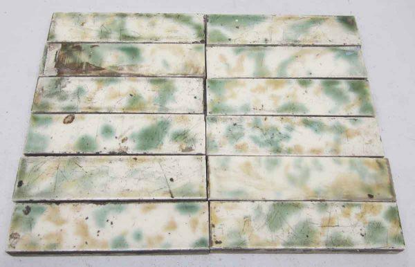 Green & Yellow Fireplace Tile Set