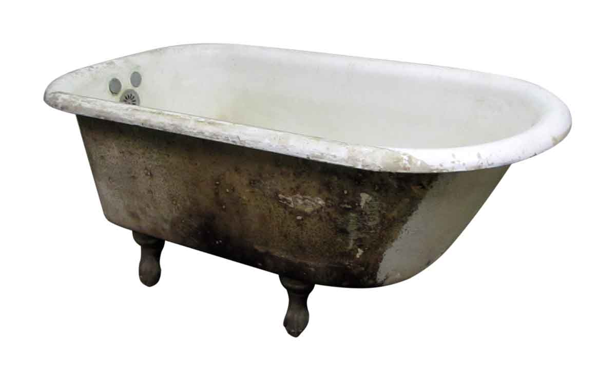 Claw foot porcelain tub olde good things for Porcelain clawfoot bathtub