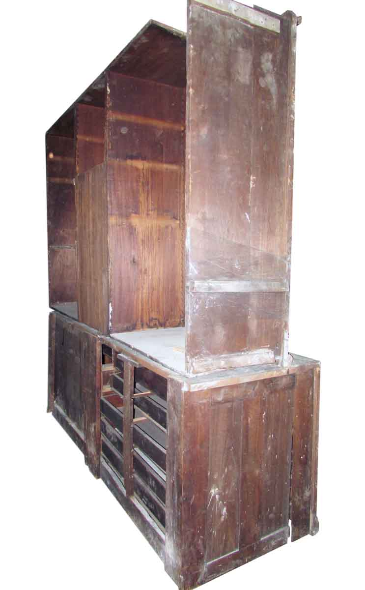 Antique Chestnut Vestment Cabinet Great for Map - Antique Chestnut Vestment Cabinet Great For Map Olde Good Things