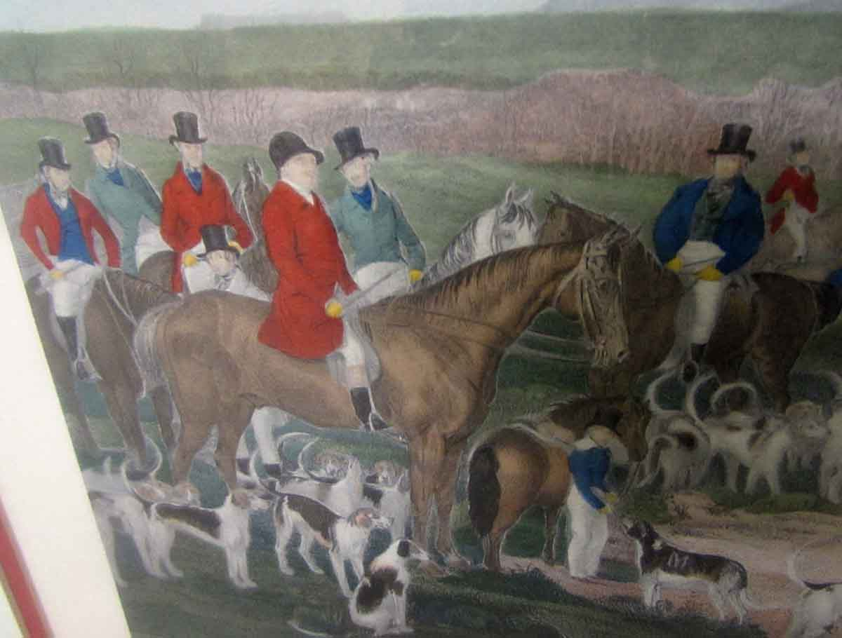 English Fox Hunt Print The Bedale Hunt Olde Good Things