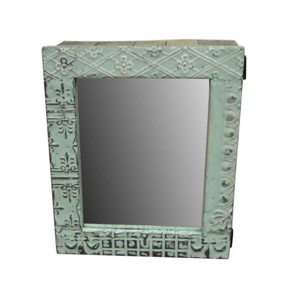 Tin Mirrored Medicine Cabinet