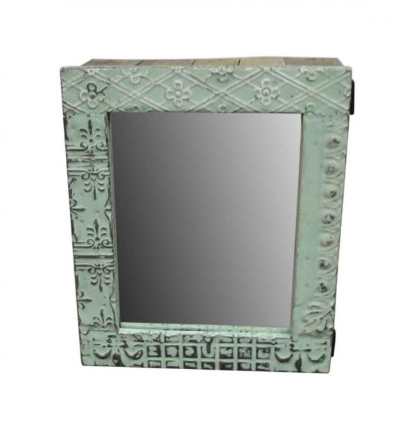 Tin Mirrored Medicine Cabinet