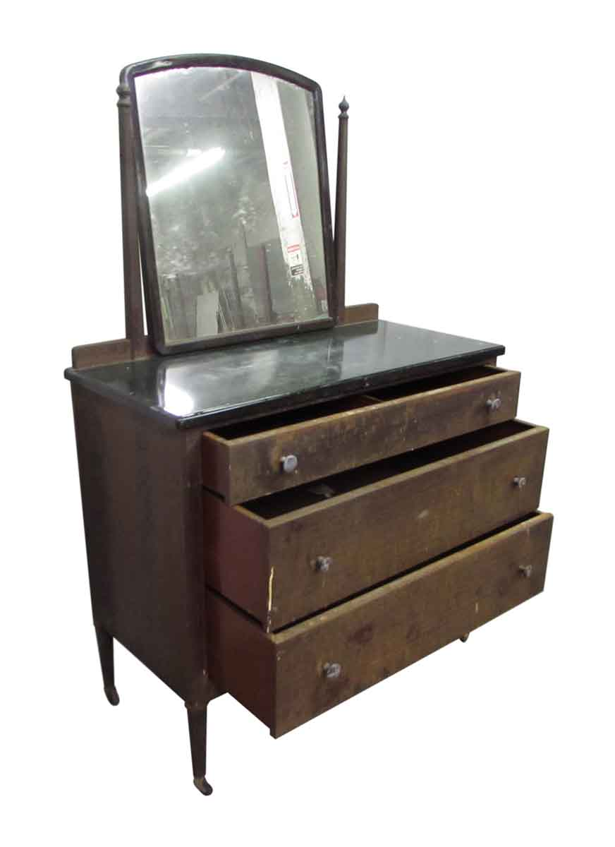 Vintage Metal Dresser With Mirror Olde Good Things
