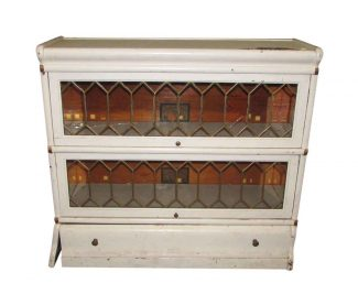 Barrister Bookcase With Leaded Glass