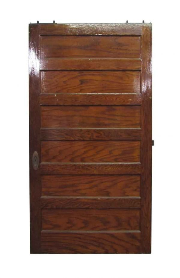 Six Horizontal Panel Pocket Door