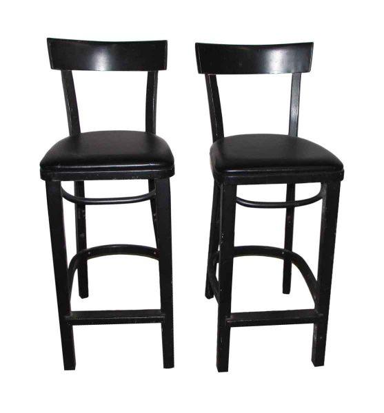 Pair of Black Bar Stools