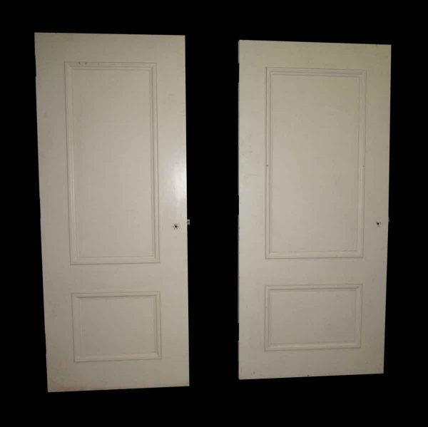 White Two Panel Door