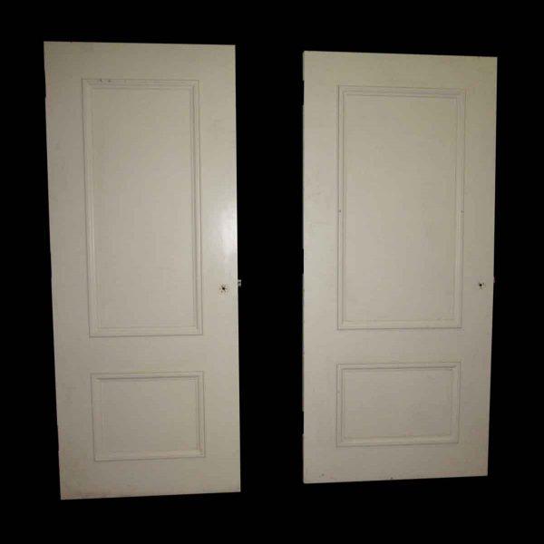 White Two Panel Door