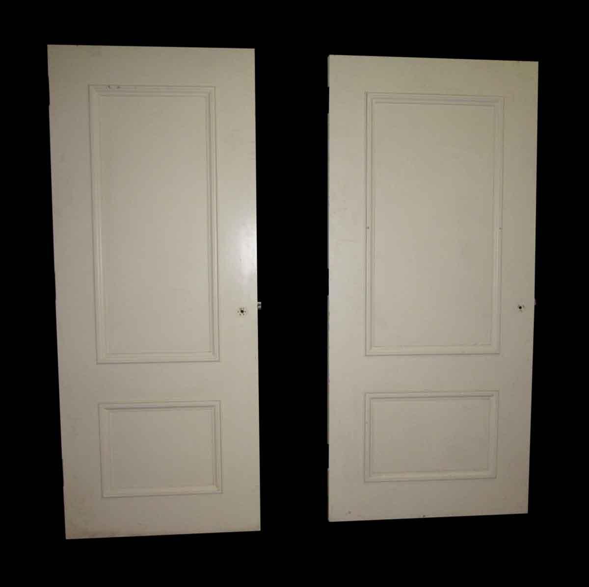 White two panel door olde good things for 12 panel door