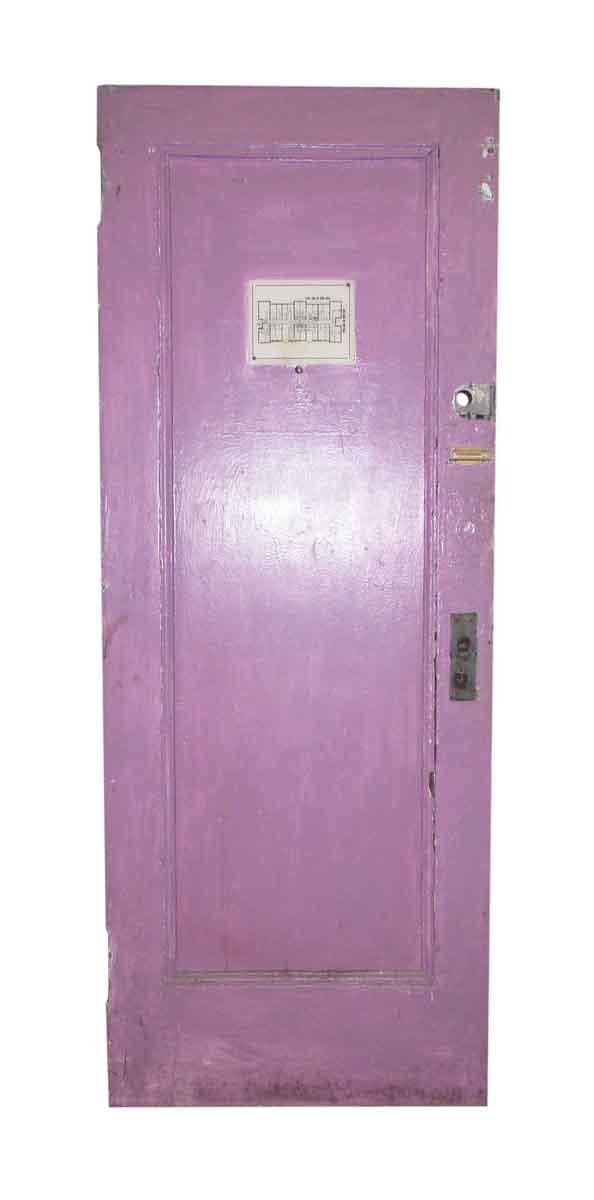 One Panel Hotel Metal Door