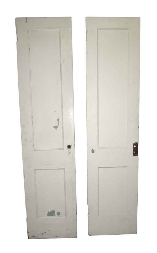 Pre War Simple Wood White Pantry Door