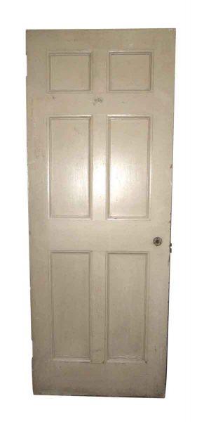 Wooden Entry Door with Six Panels