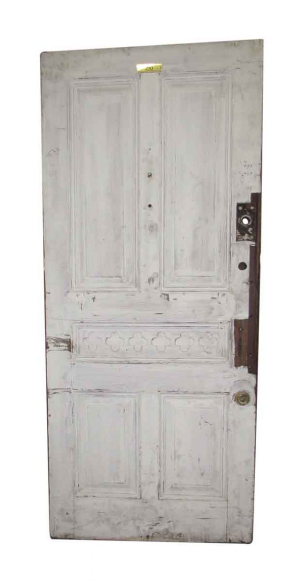 Wide Raised Panel Mahogany Door with Quatrefoil Detail