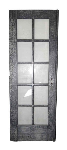 Pair of Galvanized Steel French Doors