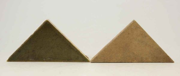 Set of Green & Tan Triangular Tiles