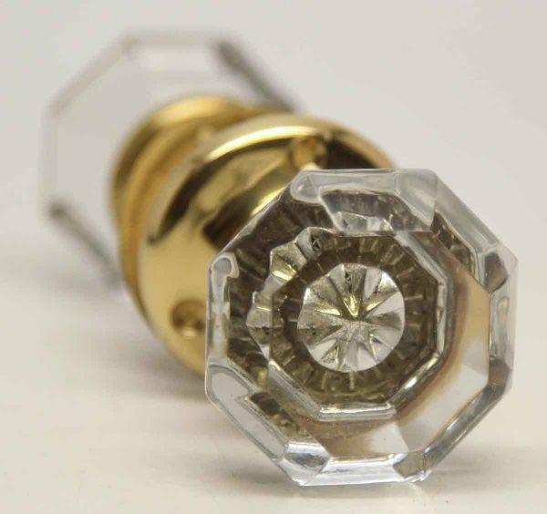 Vintage Glass Knob Set with Stat Mercury Bullet