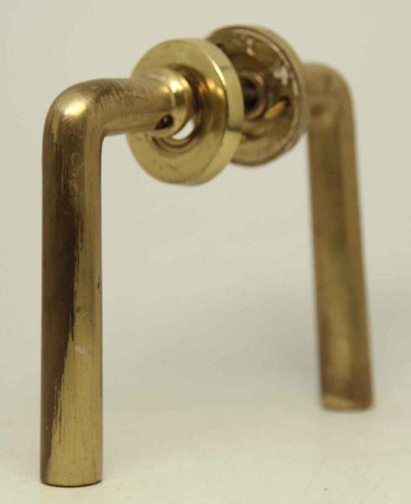 Vintage Brass Lever Knob Set