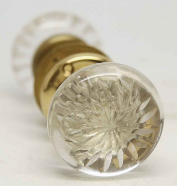 Etched Cut Glass Knobs