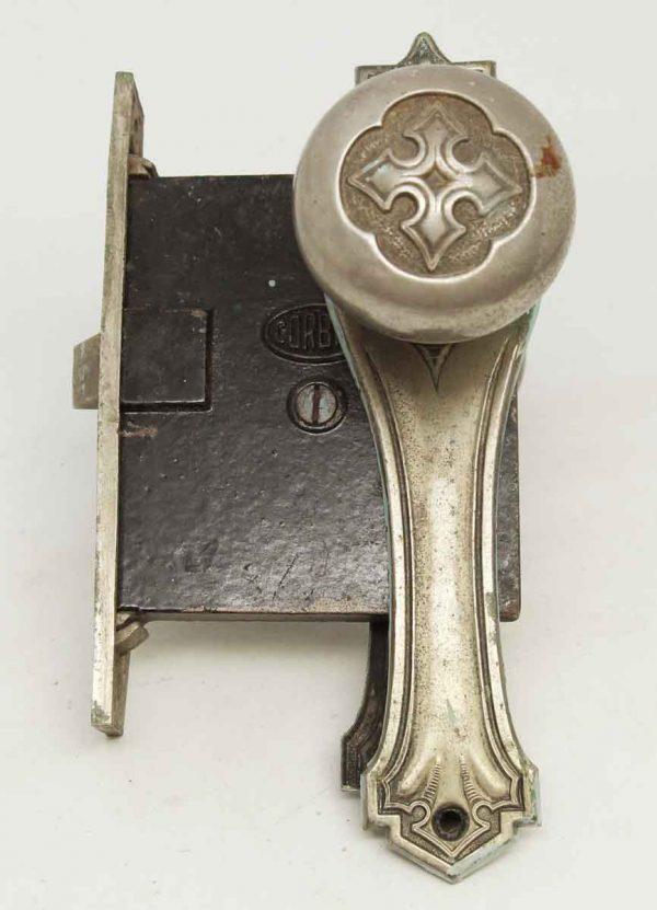 Complete Corbin Nickel Door Knob Set