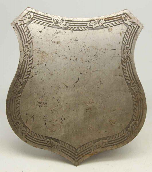 Vintage Floral Metal Shield Sign