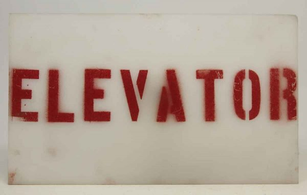 Plastic Elevator Sign