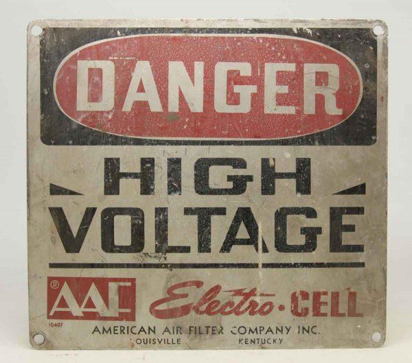 Vintage Worn Metal Danger Sign