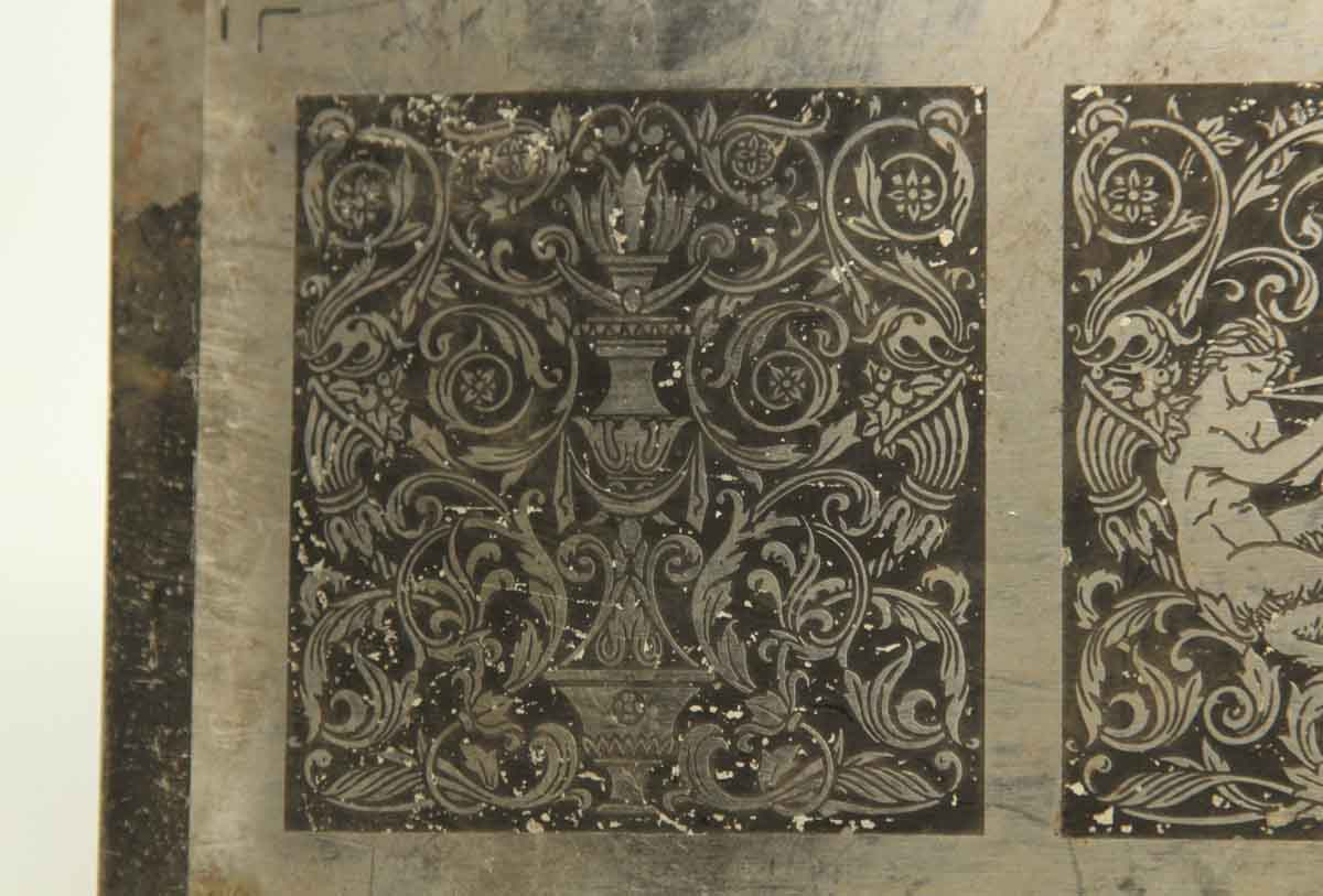 Ornate Sheet Of Metal Displaying A Musical Centaur Olde
