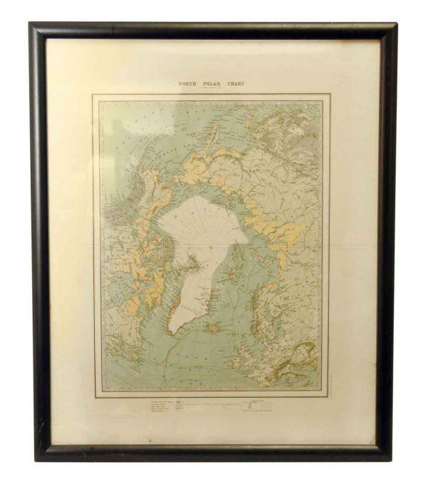Framed North Polar Chart