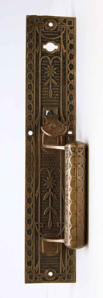Single Bronze Ornate Door Pull