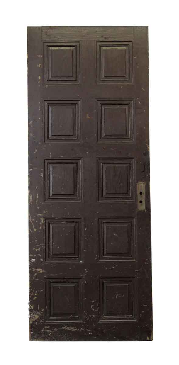 Single Wooden Door with Ten Panels