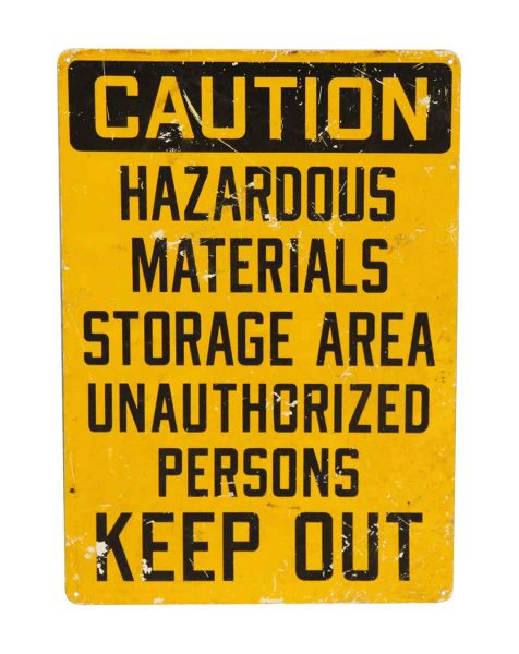 Authentic Hazardous Sign