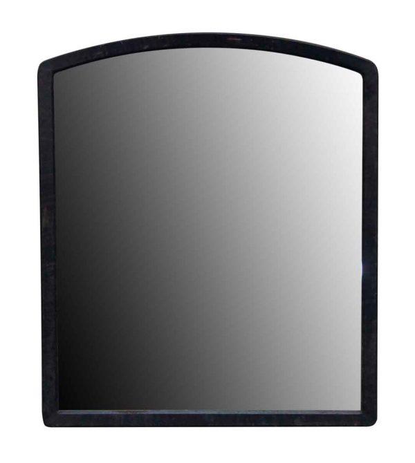 Metal Framed Worn Arched Mirror